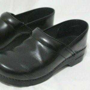 Dansko black leather Clogs nursing Shoes size 44